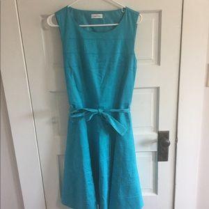 Calvin Klein Dress Turquoise Sleeveless Women's 12